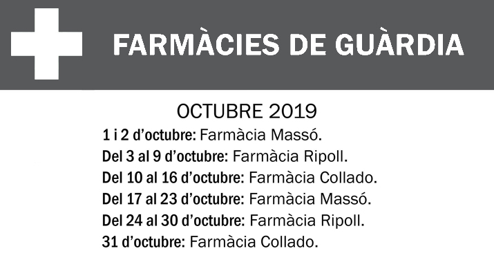 FARMACIES DE GUARDIA